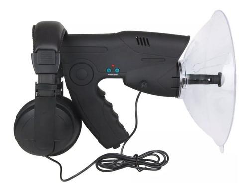 Imagen 1 de 11 de Micrófono Biónico Amplificador Sonido Espía Parabólico 100 M