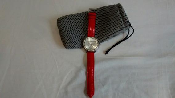 Relógio De Pulso Feminino Guess Vermelho W65006l5