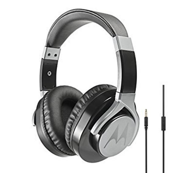 Fone Ouvido Headphone Motorola Pulse Max Wired Preto