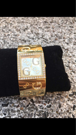 Relógio Guess Dourado Quadrado Modelo 92138