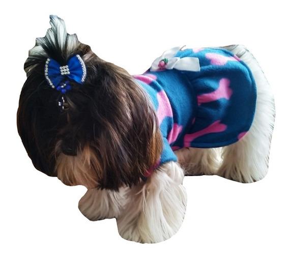 Roupa De Inverno Cachorro Pet Vestido Esquenta Porte Pequeno