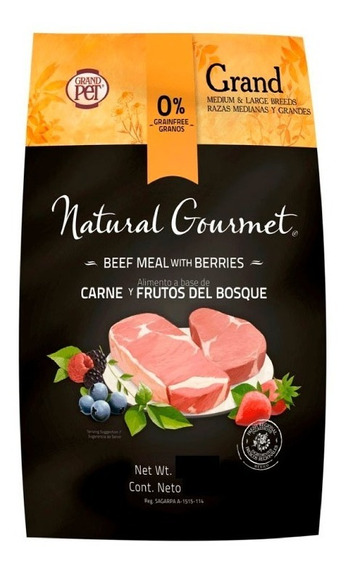 Natural Gourmet Grand Adulto Raza Mediana / Grande 15 Kg