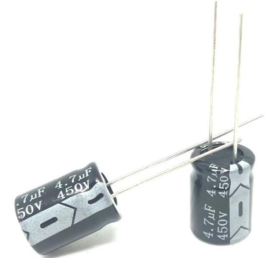Capacitor Eletrolítico 4,7uf X 450v 105º - 50 Unidades