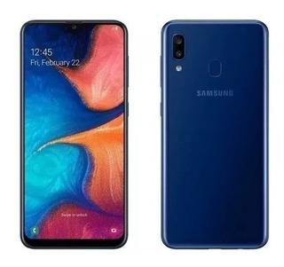 Celular Samsung A20 Blue 32gb 3gb Ram /05202)