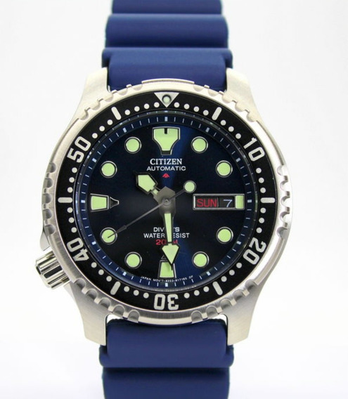 Citizen Ny0040-17l Promaster Aqualand Automatic Blue Iso