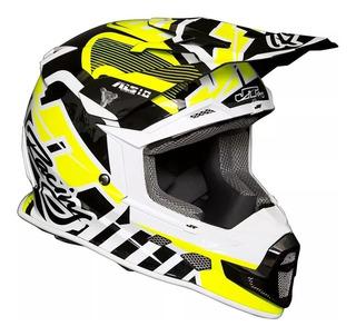 Casco Jt Racing Als 1.0 Amarillo Motocross No Fox