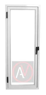 Raja De Abrir Aluminio Blanco 60x110 Vidrio Entero