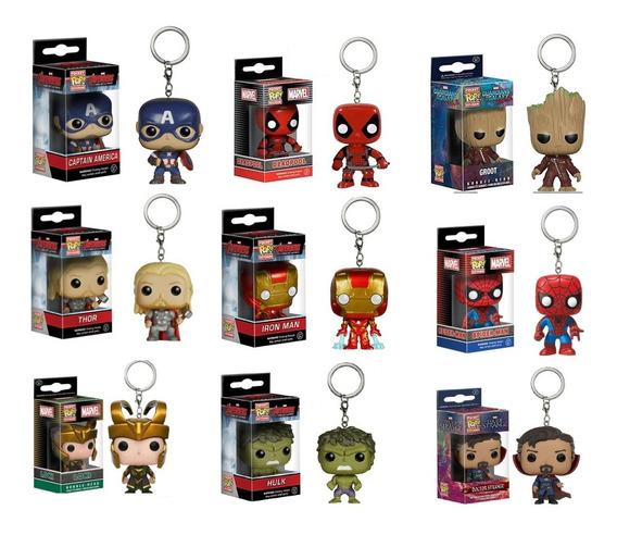 Llavero Funko Pop Avengers Iron Man Groot Spiderman Thanos +
