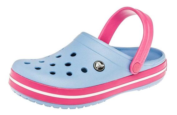 Sandalia Baño Playa Crocs Crocband Azul Dama 23-26 T4*