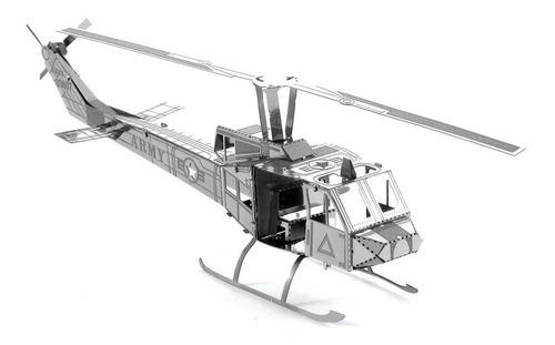 Rompecabezas 3d Helicóptero Huey Fascinations Metal Earth