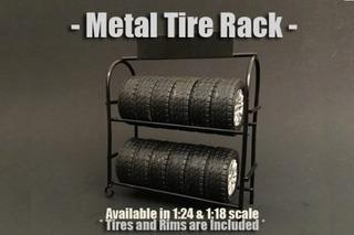 Soporte Para Llantas De Metal American Diorama 77530 1 Acce