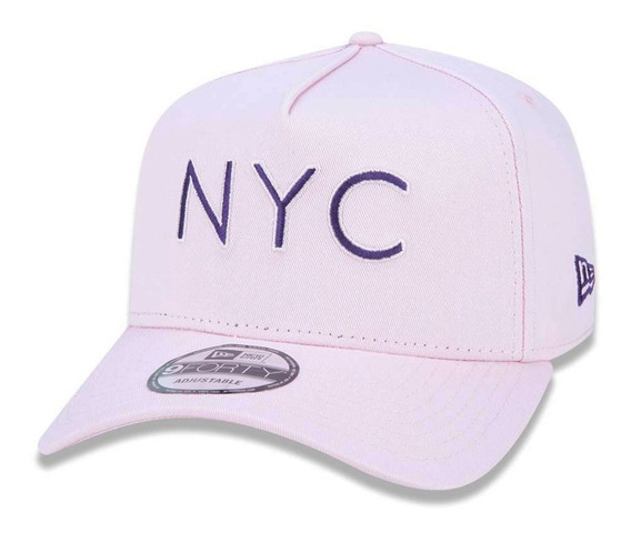 Boné New Era New York City Nyc Rosa Lançamento Nev19bon135