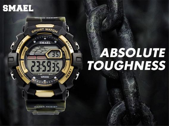 Relógio Smael Camuflado A Prova Dágua + Frete Gratis