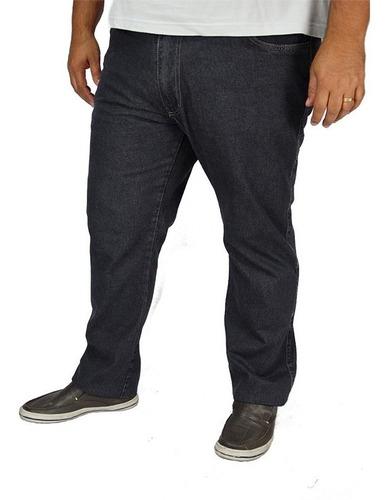 Imagem 1 de 4 de Calça Jeans Masculina Tradicional Tamanho Grande Com Lycra Até Numero 68 98% Algodão 2% Elastano Ótimo Acabamento