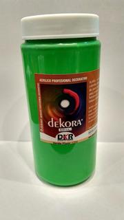 Acrilico Dekora Verde Fluo 500 Ml