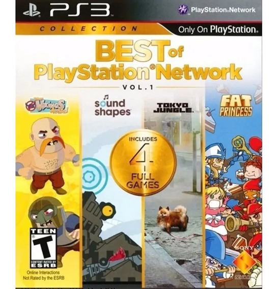 Jogo Ps3 Best Of Playstation Network Midia Fisica Novo!