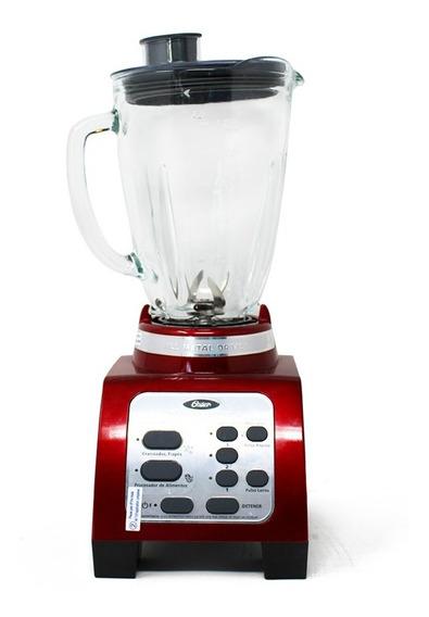 Licuadora 3 Velocidades Y 2 Funciones + Pulso Reversible Vaso De Vidrio Roja Oster Brly07-r00