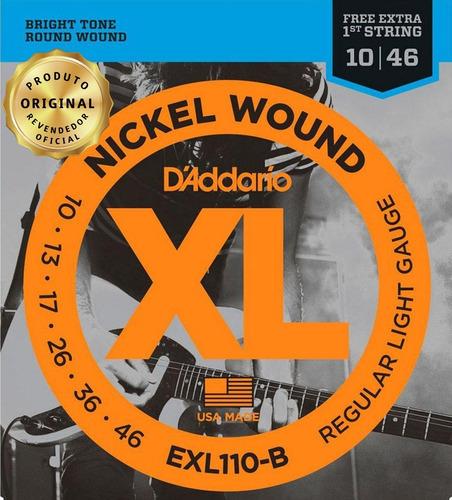 Encordoamento Guitarra Daddario .010 Exl110 Nickel Wound