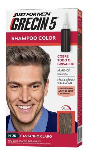 Grecin 5 Shampoo Tonalizante Castanho Claro H-25 60ml