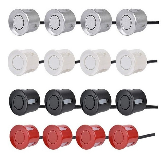 Sensor Estacionamento Ré 4 Sensores Sonoro Display Colorida