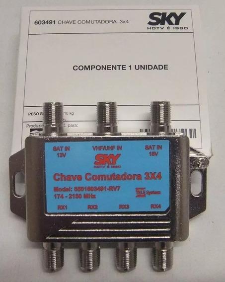10 Chaves Comutadora 3x4 Amplificada Super Promoção