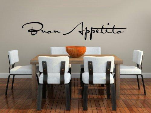 Buon Appetito Vinyl Vinilo Decorativo Para Comedor O Coci ...