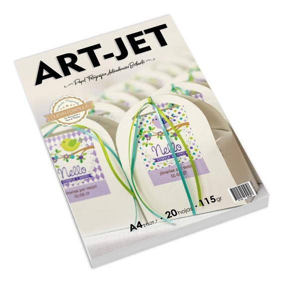 Papel Fotografico Autoadhesivo Brillo Art-jet® A4 X500 Hojas