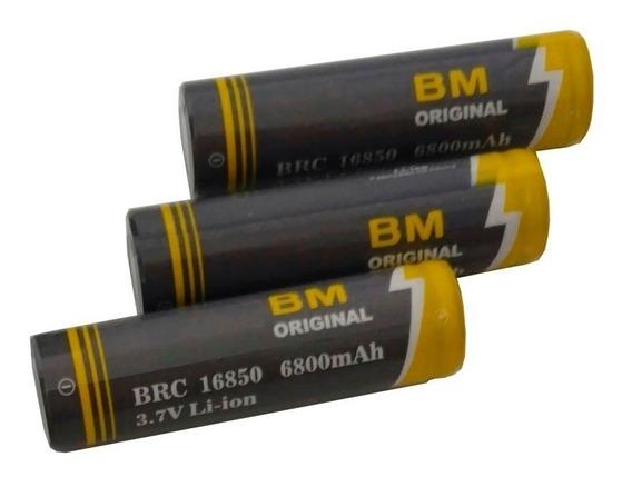 10 Baterias Recarregável 3.7v Li-ion Litio Lanterna Tatica