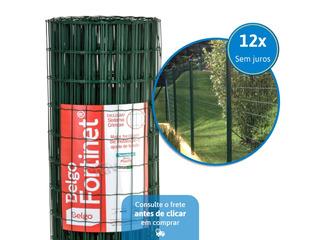 Tela Soldada Cerca Belgo Fortinet Pvc Verde 25 X 1,52m Rolo