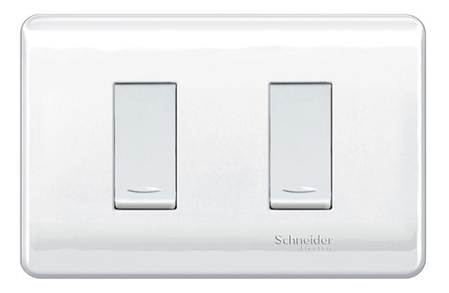 Interruptor Doble Genesis 16 A 250 V Blanco