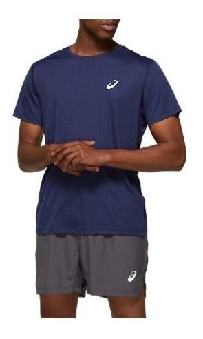 Remera Asics Silver Ss Top Azul Hombre Running