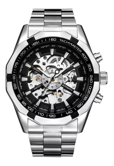 Relógio Winner Forsining Automático Skeleton Luxo Masculino