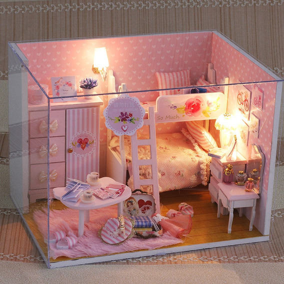 Miniatura Super Mini Tamanho Boneca Casa Modelo Kits De