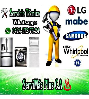 Servicio Técnico Lavadoras Neveras Whirlpool Mabe Frigilux