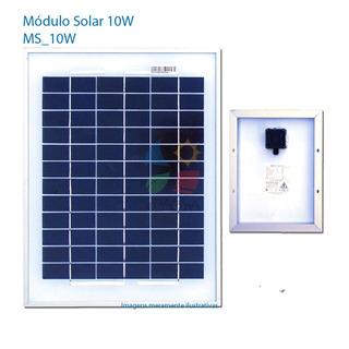 Painél Solar Fotovoltáico 12v 10 Watts ( Placa Solar 10w )