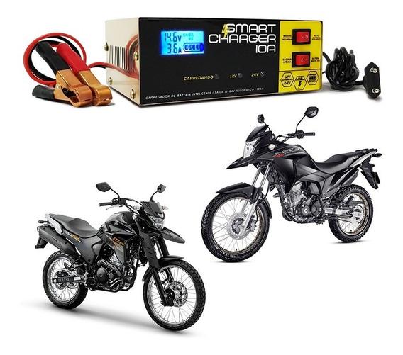 Carregador Bateria Moto 10ah Yamaha Honda Cg Biz Mini 2016 A