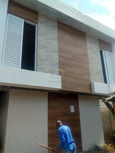 Imagem 1 de 13 de Casa De Condomínio Com 2 Dorms, Esplanada Dos Barreiros, São Vicente - R$ 185 Mil, Cod: 2035 - V2035