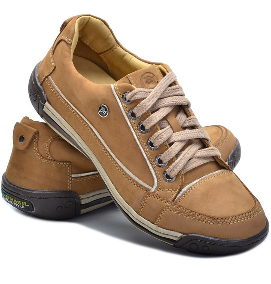 Sapato Tênis Couro Masculino Ortopédico Bm Brasil 410/114