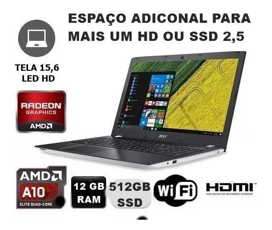Notebook Gamer Acer 512gb De Ssd E 8gb Ram