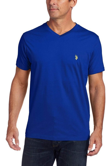 Playera Us Polo Assn Cuello V Original Importada