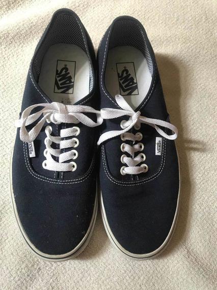Zapatillas Vans Autenthic Originales Casi Nueva!azul Marino