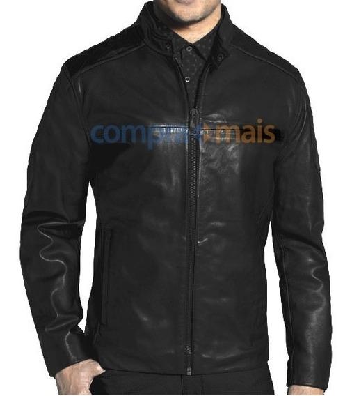 Jaqueta De Couro Motoqueiro Preta Blazer Casaco J16 12x