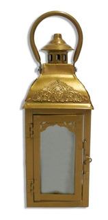 Farol Metálico Rectangular Porta Velas Para Decoración Hogar Centro Mesa Deco Fanal Decorativo Souvenir Suká 25x9 Cuotas