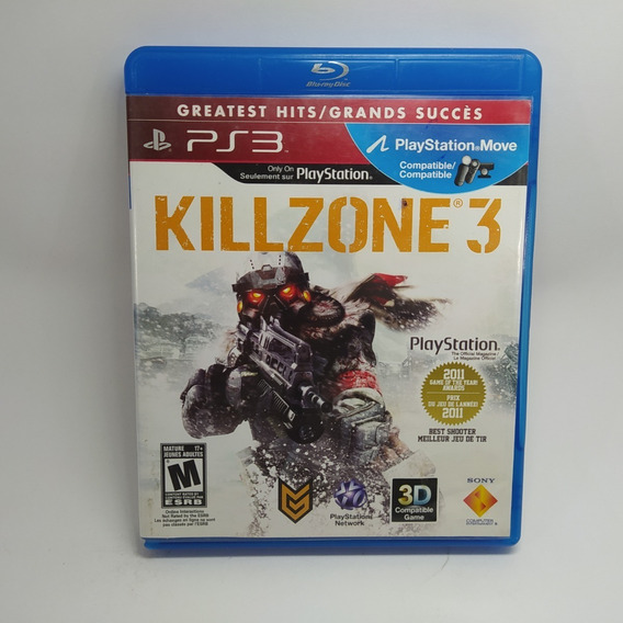 Killzone 3 Ps3 Mídia Física Usado Original Físico Play 3