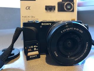 Sony Alpha Nex-3n + Memoria 8gb
