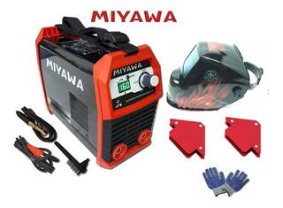 Combo: Soldadora Inverter Miyawa Mma195 + Máscara Kushiro + Escuadras Magneticas 5