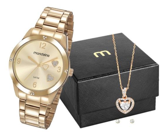 Relógio Mondaine Feminino Dourado Analógico Garantia 1 Ano