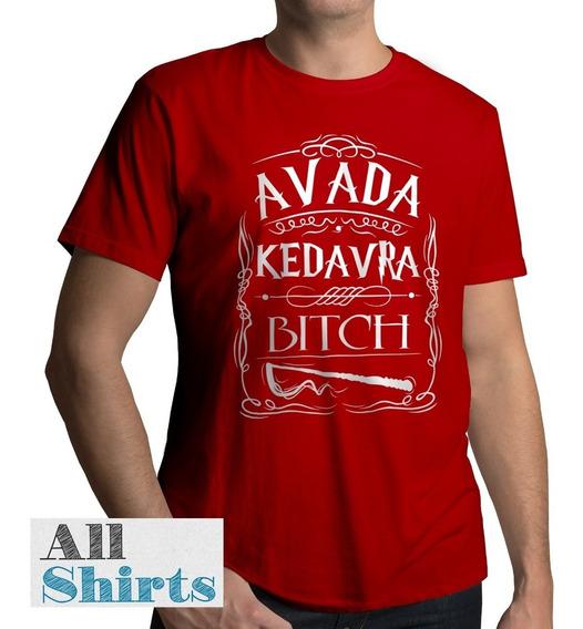Camiseta Harry Potter Avada Kedavra Camisa 100% Algodão