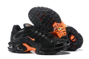 8a50c0e46 Zapatilla Nike Negras Con Naranja Hombres - Zapatillas en Mercado ...