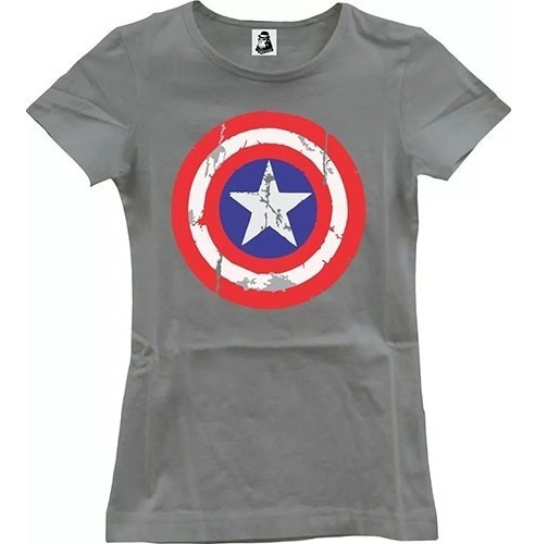 Camisa Feminina Baby Look Capitão América Marvel Captain